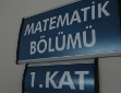 [Matematik Bölümü tabelası (Mathematics Department sign)]
